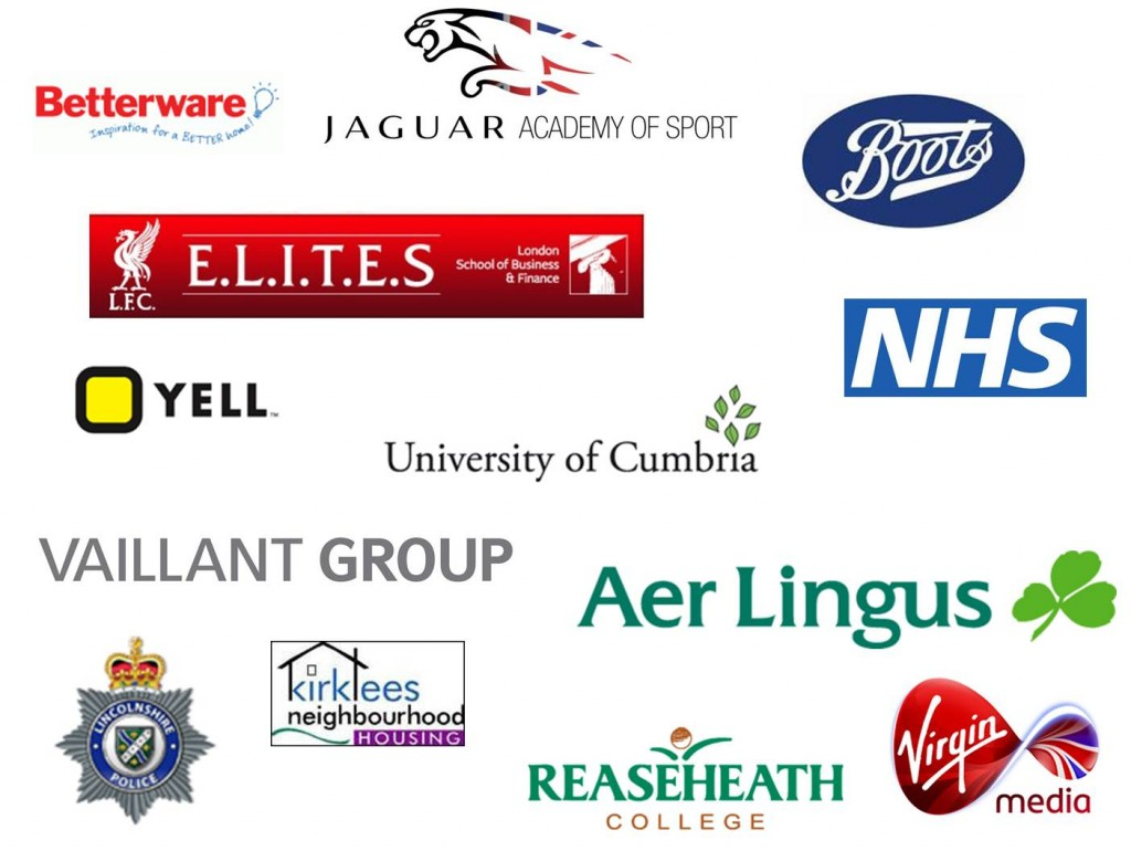 some of the clients we have delivered programmes to